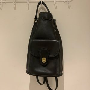 Vintage Coach Convertible Bucket Backpack
